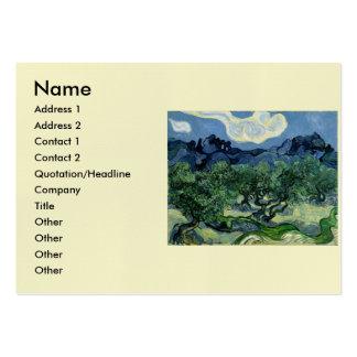 Los olivos de Vincent van Gogh (1889) Tarjetas De Visita Grandes