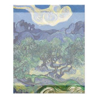 Los olivos de Vincent van Gogh Tarjeta Publicitaria