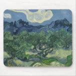 Los olivos de Vincent van Gogh Tapete De Ratones