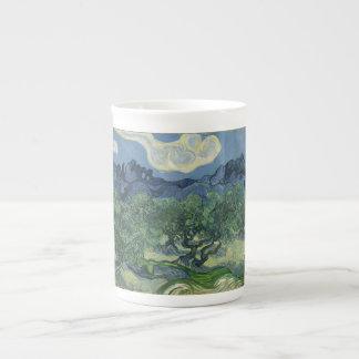 Los olivos - Van Gogh Taza De Porcelana