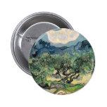 Los olivos, Vincent van Gogh Pin Redondo 5 Cm