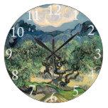 Los olivos, Vincent van Gogh Reloj De Pared