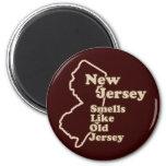 Los olores de New Jersey tienen gusto del jersey v Imán De Frigorifico