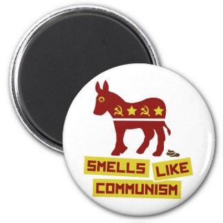 Los olores tienen gusto de comunismo imán redondo 5 cm