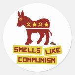 Los olores tienen gusto de comunismo pegatina redonda