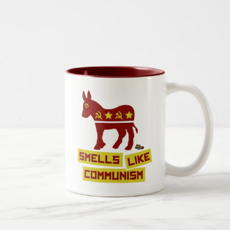 Los olores tienen gusto de comunismo taza de café de dos colores