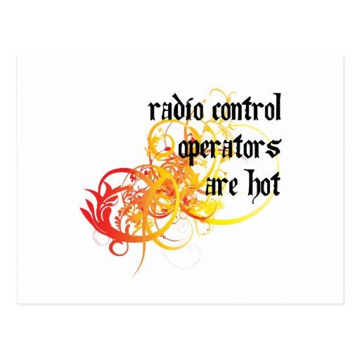 Los operadores de control de radio son calientes tarjetas postales