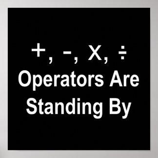 Los operadores están haciendo una pausa (la oscuri póster