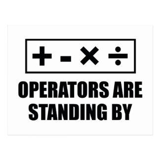 Los operadores están haciendo una pausa postal