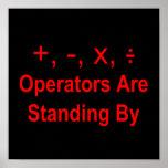 Los operadores están haciendo una pausa (texto impresiones