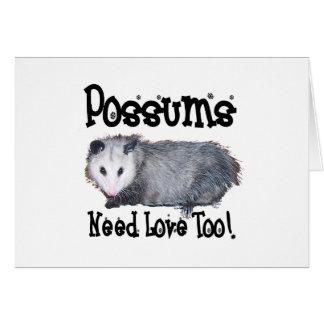 Los oposums necesitan amor también felicitación