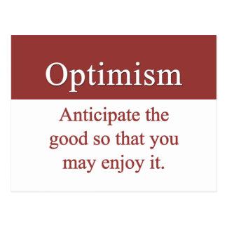 Los optimistas gozan de bueno en vida tarjetas postales