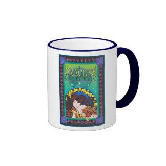 Los oráculos de la música tazas de café