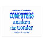 Los ordenadores despiertan postal