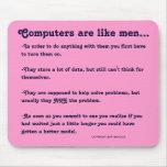 Los ordenadores son como hombres… alfombrilla de ratones