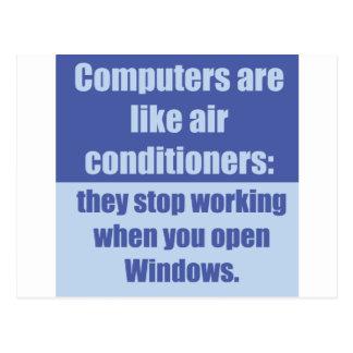 Los ordenadores son como los acondicionadores de a tarjetas postales