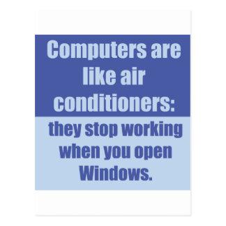 Los ordenadores son como los acondicionadores de a postales