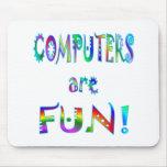 Los ordenadores son diversión alfombrilla de raton