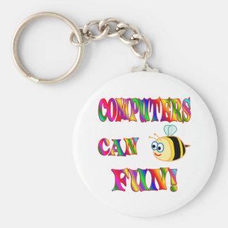 Los ordenadores son diversión llavero