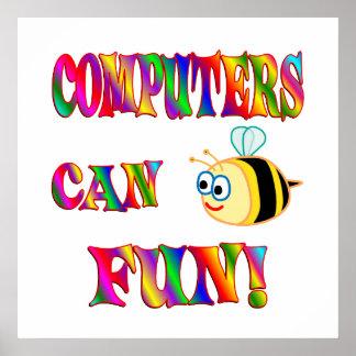 Los ordenadores son diversión póster