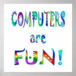 Los ordenadores son diversión posters