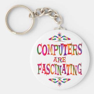 Los ordenadores son fascinadores llavero redondo tipo pin
