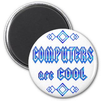Los ordenadores son frescos imán redondo 5 cm
