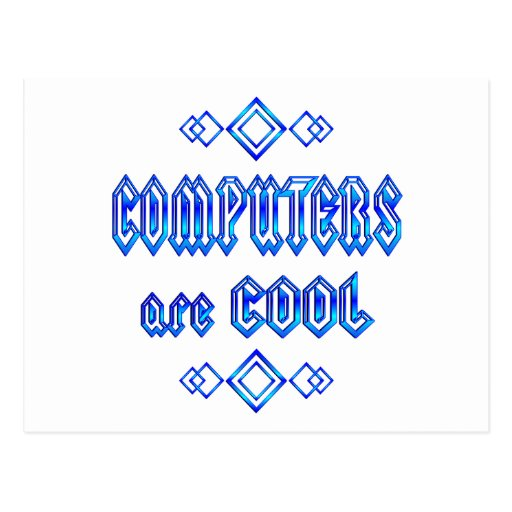 Los ordenadores son frescos postales