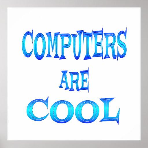 Los ordenadores son frescos póster