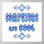 Los ordenadores son frescos posters
