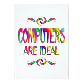 """Los ordenadores son ideales invitación 5"""" x 7"""""""