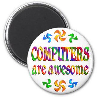 Los ordenadores son impresionantes imán redondo 5 cm