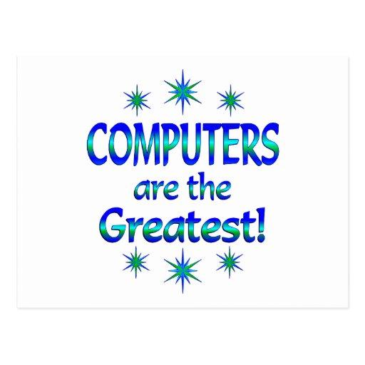 Los ordenadores son los más grandes postal