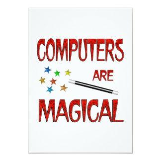 """Los ordenadores son mágicos invitación 5"""" x 7"""""""