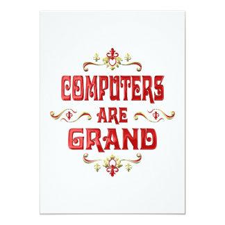 """Los ordenadores son magníficos invitación 5"""" x 7"""""""