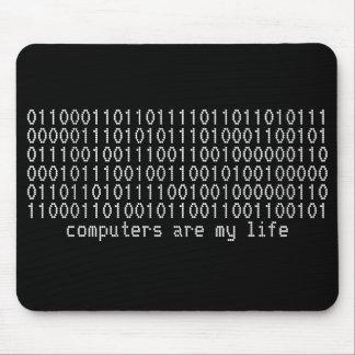 """los """"ordenadores son mousepad binario de mi vida"""" tapete de ratón"""
