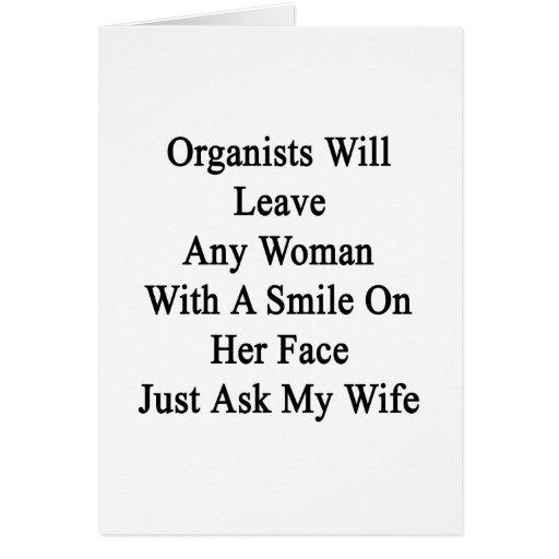 Los organistas dejarán a cualquier mujer con una s felicitaciones