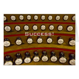 Los organistas no pueden pararse tarjeta