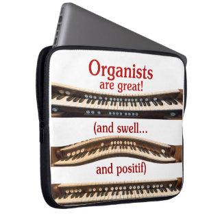Los organistas son gran manga del ordenador portát funda computadora