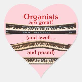 Los organistas son gran pegatina del corazón para
