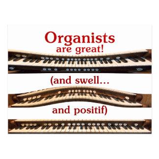 Los organistas son gran postal