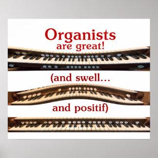 Los organistas son gran poster