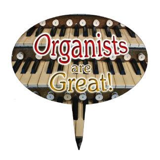 Los organistas son gran primero de la torta figuras de tarta