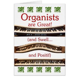 """Los """"organistas son gran"""" tarjeta de Navidad"""