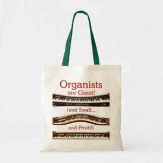 Los organistas son gran tote del presupuesto bolsas