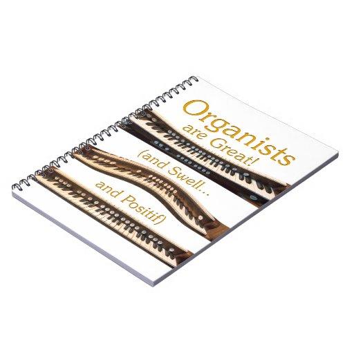 Los organistas son grandes - cuaderno amarillo