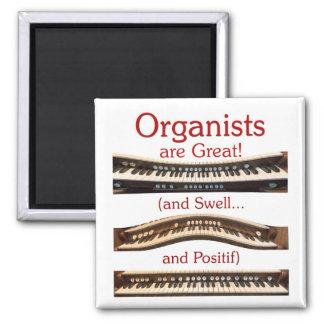 Los organistas son grandes imanes imán cuadrado
