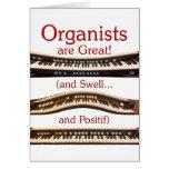 Los organistas son grandes le agradecen cardar felicitación