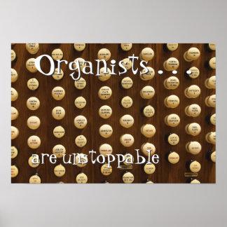 Los organistas son imparables póster