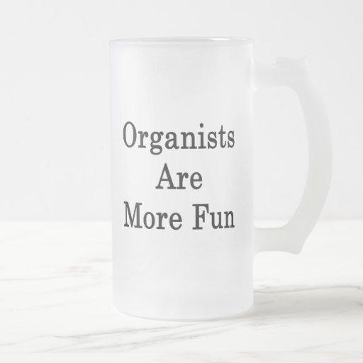 Los organistas son más diversión taza cristal mate
